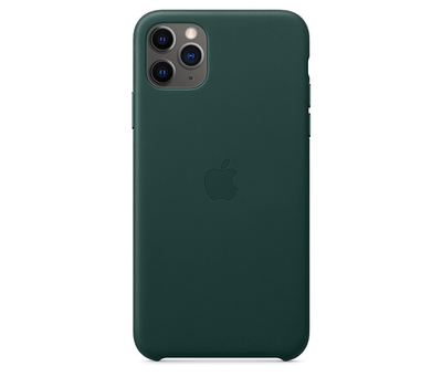 Чехол Apple iPhone 11 Pro Max Leather Case Forest Green MX0C2