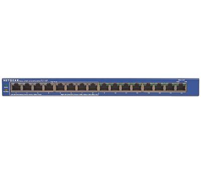 Коммутатор 16 port Netgear FS116PEU, PoE